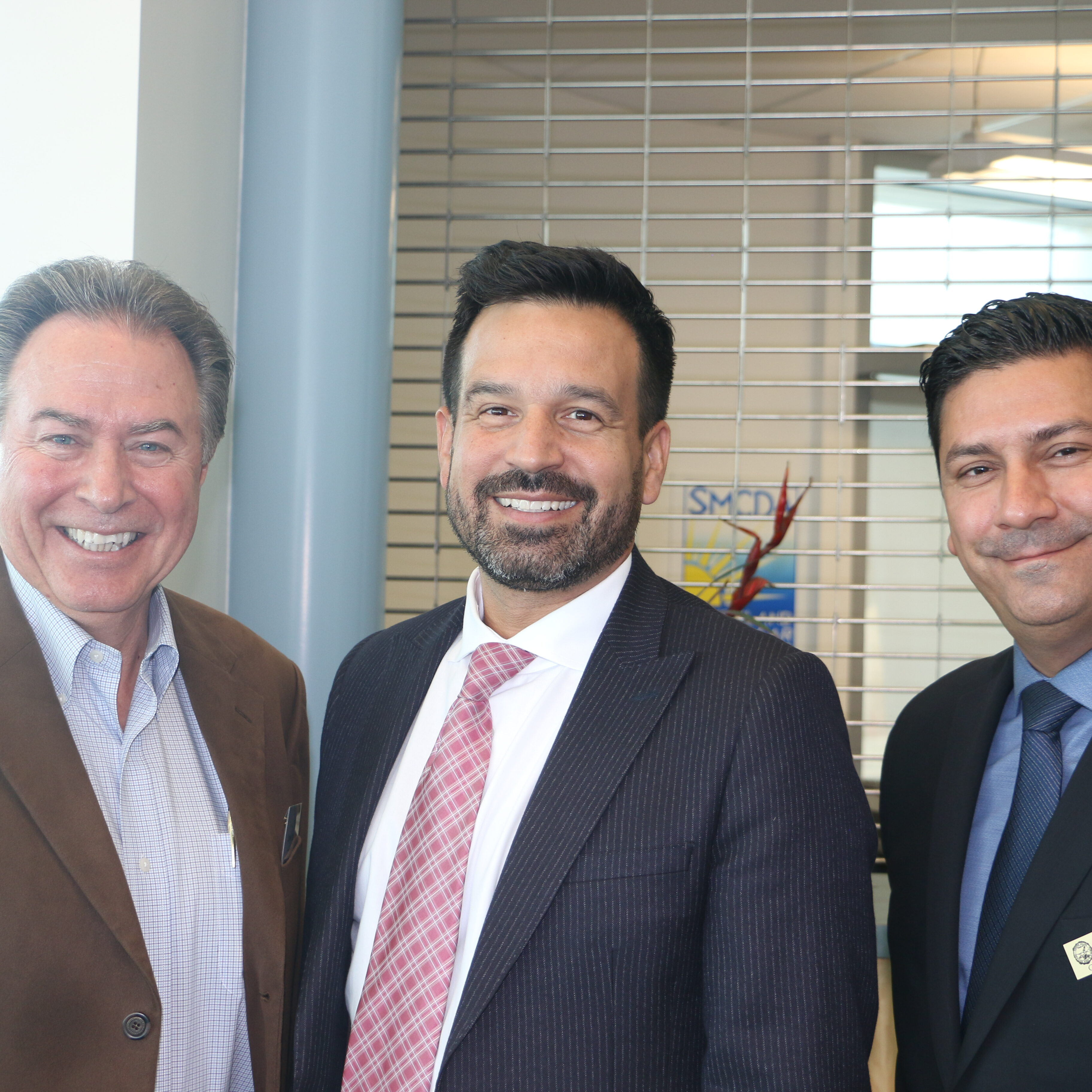 Steve Richardson (Former Executive Director of the Cerritos College Foundation, Cerritos College President, Dr. Jose Fierro, and Felipe Lopez (VP of Business Services and Assistant Superintendent at Cerritos College